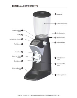 Compak F10 Master Conic OD Coffee Grinder