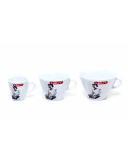 Lelit PL300 porcelain espresso cup with saucer, 70 cc, 6 pcs