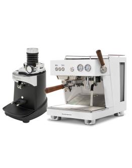 Set Ascaso BABY T PLUS Espresso Machine + Ceado E37SD Opalglide Single-Dose Coffee Grinder