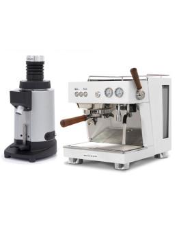 Set Ascaso BABY T PLUS Espresso Machine + Ceado E5SD Opalglide Single-Dose Coffee Grinder