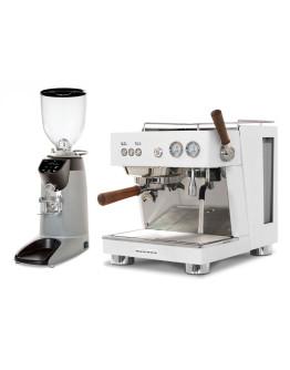 Set Ascaso BABY T PLUS Espresso Machine + Compak E8 OD Coffee Grinder