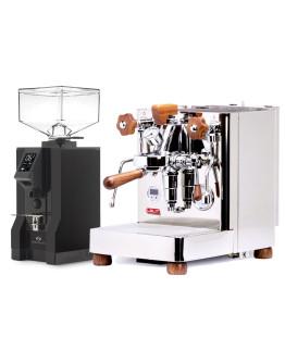 Set Lelit Bianca Top-Level Espresso Machine + Eureka Mignon Specialita Automatic Grinder for Domestic use