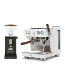 Set Ascaso BABY T PLUS Espresso Machine + Ascaso I·steel Wood grinder kit