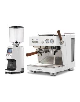 Set Ascaso BABY T PLUS Espresso Machine + Eureka Atom Specialty 75E On-demand grinder for domestic and professional purpose