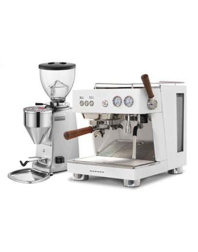 Set Ascaso BABY T PLUS Espresso Machine + Mazzer MINI Electronic A Coffee Grinder