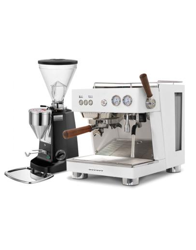 Set Ascaso BABY T PLUS Espresso Machine + Mazzer Super Jolly Electronic Coffee Grinder