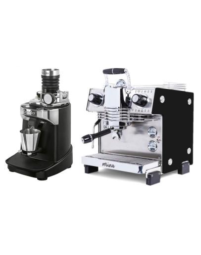 Set Dalla Corte MINA Espresso Machine + Ceado E37SD Opalglide Single-Dose Coffee Grinder