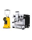 Set Dalla Corte MINA Espresso Machine + Eureka HELIOS 80 on demand grinders
