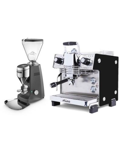 Set Dalla Corte MINA Espresso Machine + Mazzer SUPER JOLLY V Pro Professional Grinder