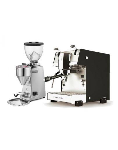 Set Dalla Corte STUDIO Espresso Machine + Mazzer MINI Electronic A Coffee Grinder