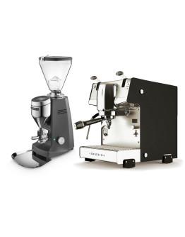 Set Dalla Corte STUDIO Espresso Machine + Mazzer SUPER JOLLY V Pro Professional Grinder