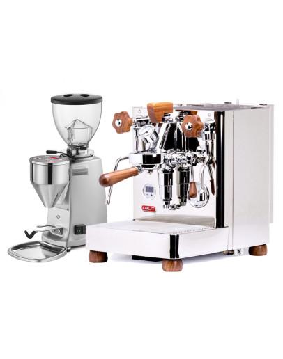 Set Lelit Bianca TOP-Level Espresso Machine + Mazzer MINI Electronic A Coffee Grinder