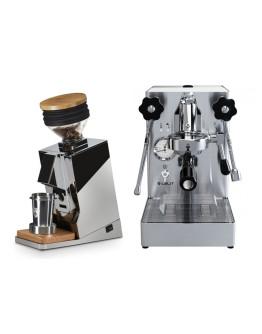 Set Lelit Mara PL62X compact espresso machine with E61 group + Eureka ORO Mignon Single Dose Grinder