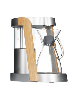 Ratio Eight Coffee Maker - Bright Silver / Parawood
