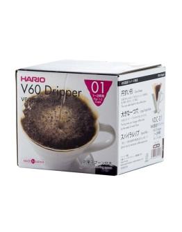 Hario V60-01 Ceramic Coffee Dripper Red
