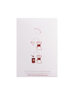 Chemex round paper filters 6, 8, 10 cups