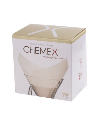Chemex Square Paper Filters - White -  6, 8, 10 Cups