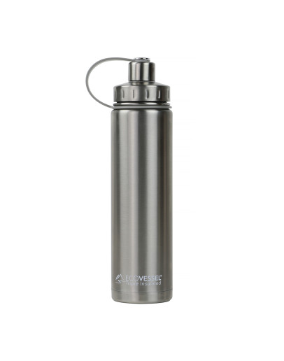 EcoVessel - Insulated Water Bottle Boulder - Silver Express 700 ml