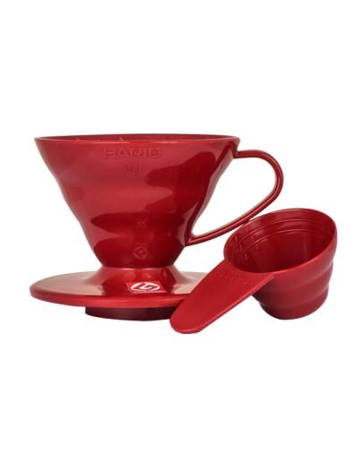 Hario V60-01 Plastic Dripper Red