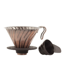 Hario V60-02 Metal dripper with silicone base - Copper