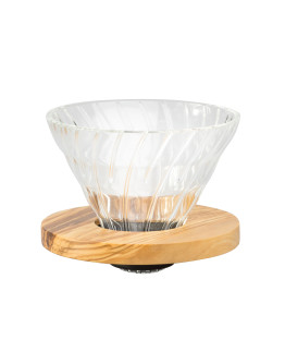 Hario V60 Glass Dripper 02 - Olive Wood
