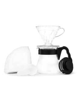 Hario V60 Pour Over Kit - dripper +  server  + filters