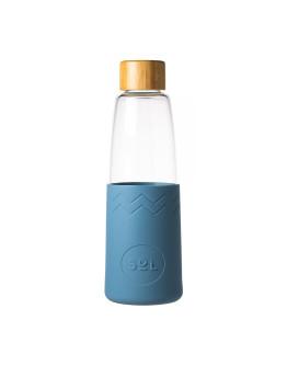 Sol - Blue Stone Bottle + Cleaning Brush + Bag
